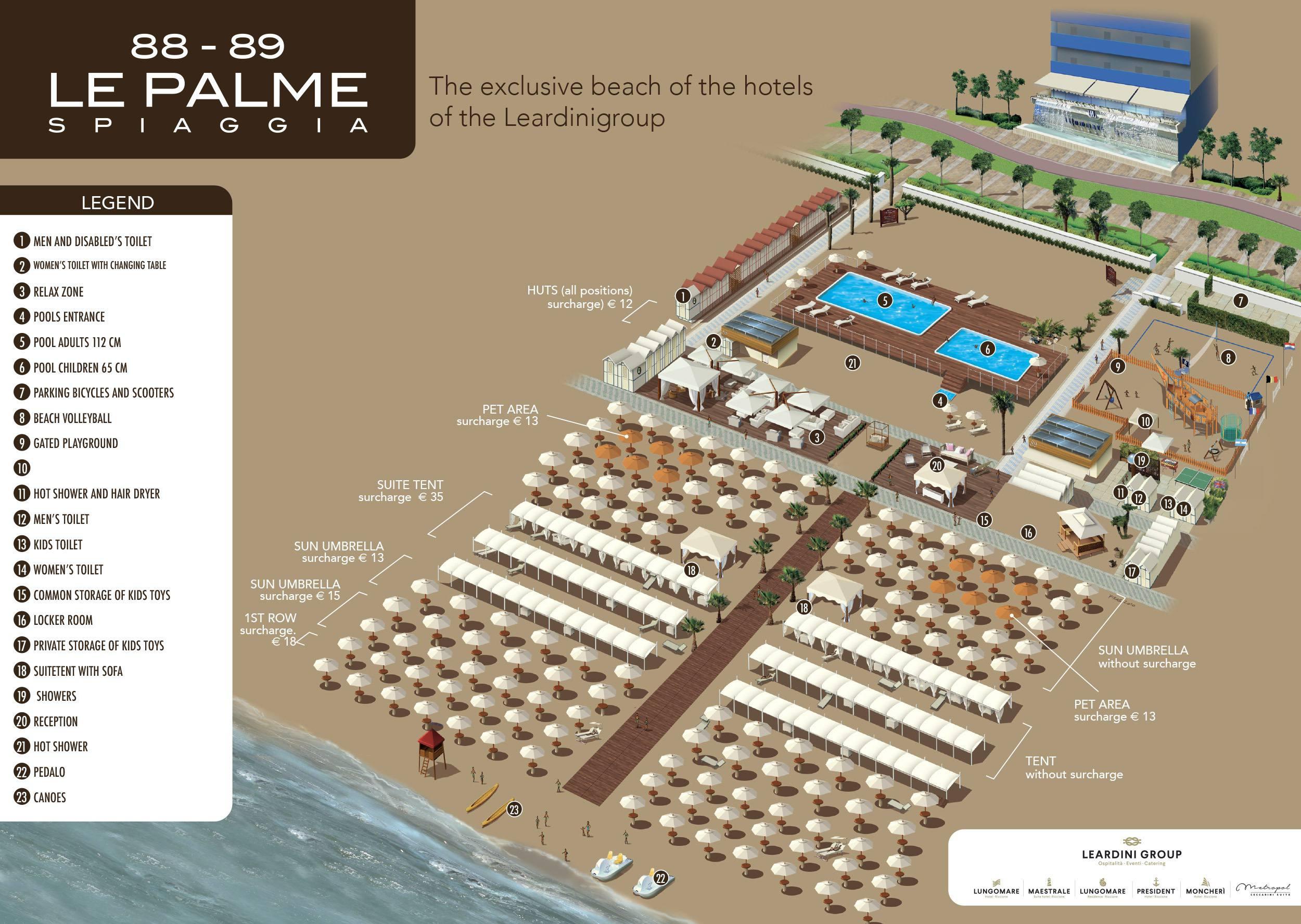 Spiaggia Le Palme 88-89 Riccione